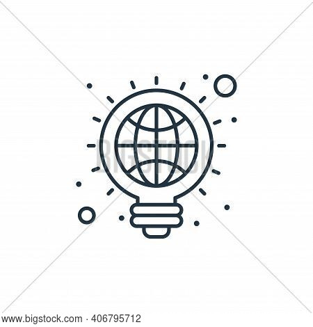 creative icon isolated on white background from earth day collection. creative icon thin line outlin