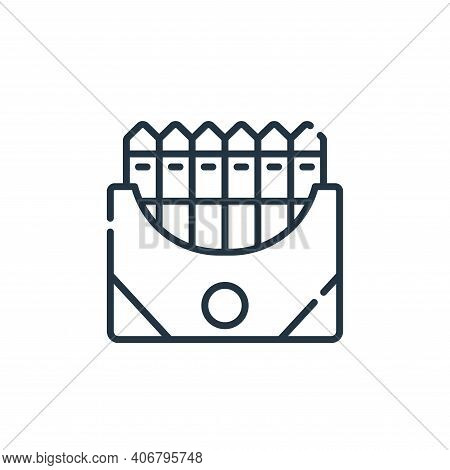 crayon icon isolated on white background from academy collection. crayon icon thin line outline line
