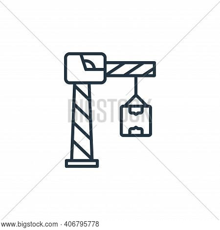 crane icon isolated on white background from shipping and delivery collection. crane icon thin line