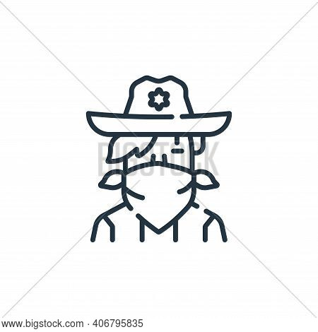 cowboy icon isolated on white background from fantastic characters collection. cowboy icon thin line