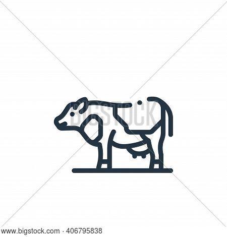 cow icon isolated on white background from in the village collection. cow icon thin line outline lin
