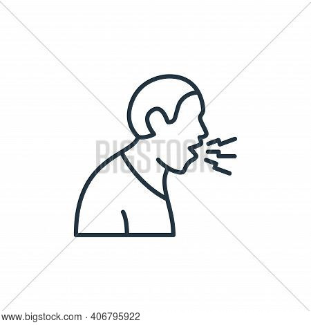 cough icon isolated on white background from coronavirus disease collection. cough icon thin line ou