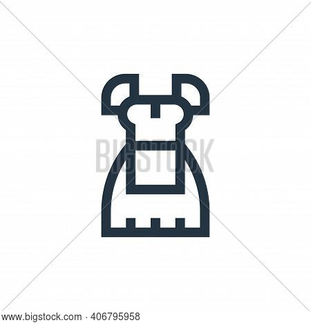 costume icon isolated on white background from holland collection. costume icon thin line outline li