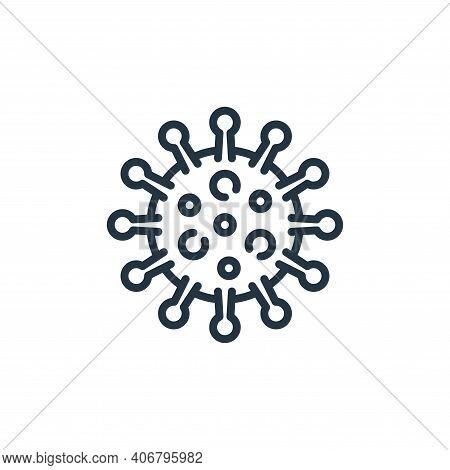 coronavirus icon isolated on white background from coronavirus collection. coronavirus icon thin lin