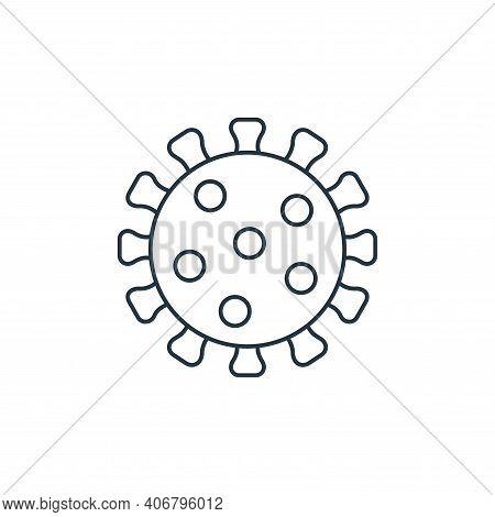 coronavirus icon isolated on white background from coronavirus covid collection. coronavirus icon th