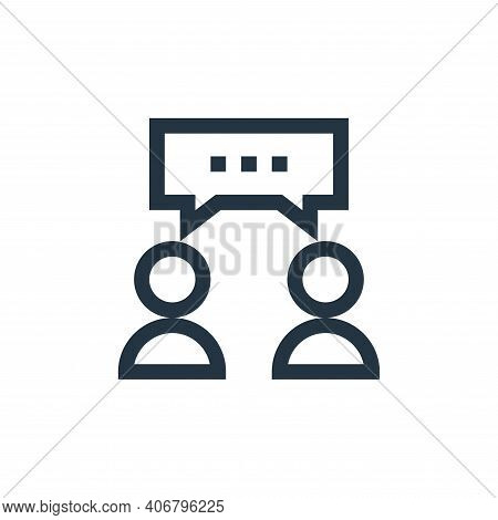 conversation icon isolated on white background from feedback and testimonials collection. conversati