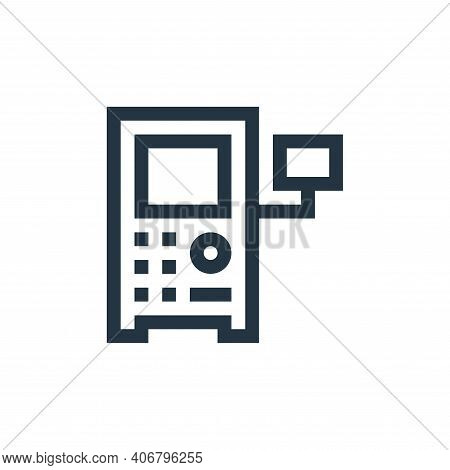 control system icon isolated on white background from manufacturing collection. control system icon