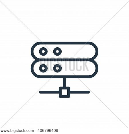 connected icon isolated on white background from work office server collection. connected icon thin