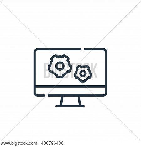 Configuration Vector Icon From Telecommuting Collection Isolated On White Background