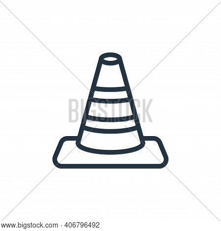 cone icon isolated on white background from miscellaneous collection. cone icon thin line outline li