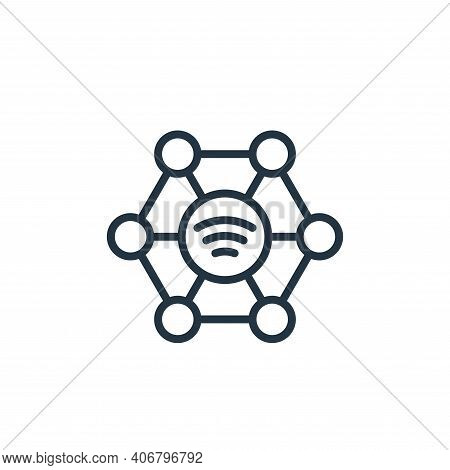 community icon isolated on white background from internet of things collection. community icon thin