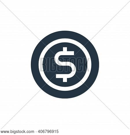 coin icon isolated on white background from advertisement collection. coin icon thin line outline li