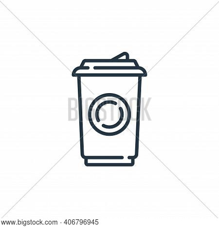 coffee cup icon isolated on white background from mall collection. coffee cup icon thin line outline