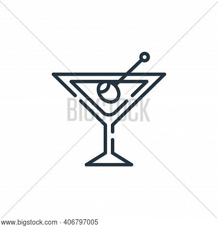 cocktail icon isolated on white background from fame collection. cocktail icon thin line outline lin