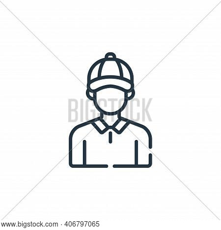 coach icon isolated on white background from baseball collection. coach icon thin line outline linea