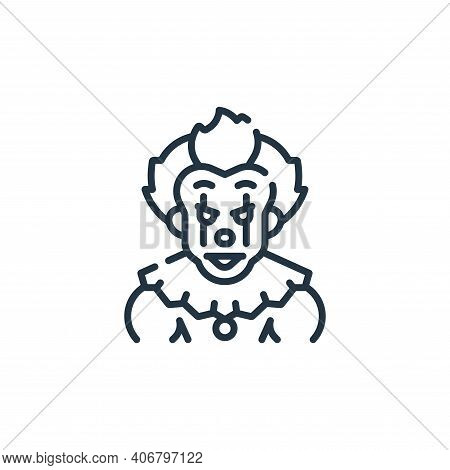 clown icon isolated on white background from fantastic characters collection. clown icon thin line o