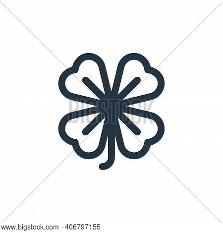 clover icon isolated on white background from england collection. clover icon thin line outline line