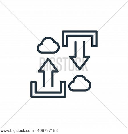 cloud uploading icon isolated on white background from work from home collection. cloud uploading ic