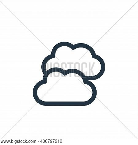 clouds icon isolated on white background from climate change collection. clouds icon thin line outli