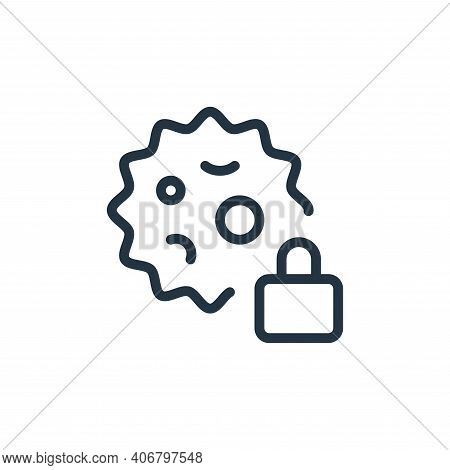 clock icon isolated on white background from coronavirus collection. clock icon thin line outline li