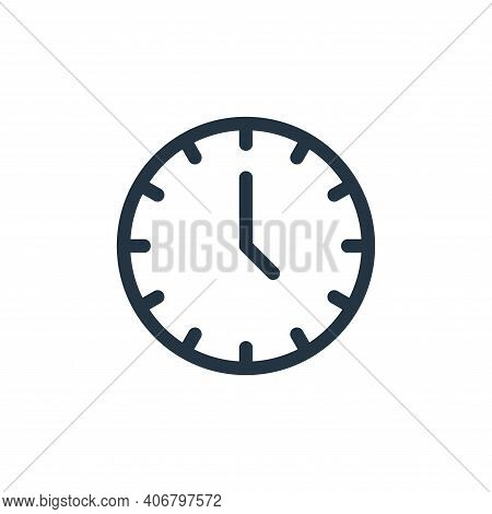clock icon isolated on white background from electronics collection. clock icon thin line outline li