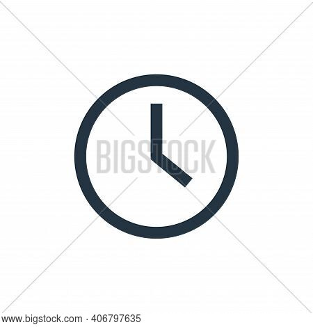 clock icon isolated on white background from email collection. clock icon thin line outline linear c
