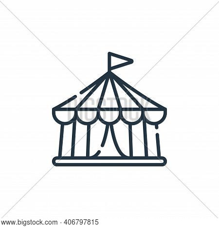 circus tent icon isolated on white background from circus collection. circus tent icon thin line out