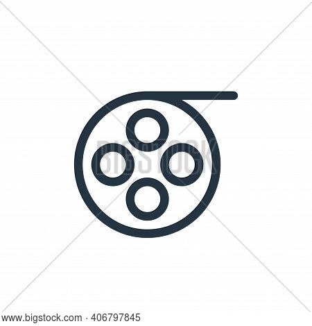 cinema reel icon isolated on white background from technology collection. cinema reel icon thin line