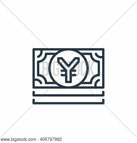 chinese yuan icon isolated on white background from money and currency collection. chinese yuan icon
