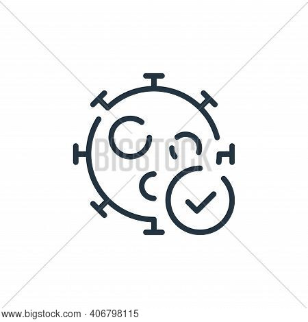 cheking icon isolated on white background from coronavirus collection. cheking icon thin line outlin