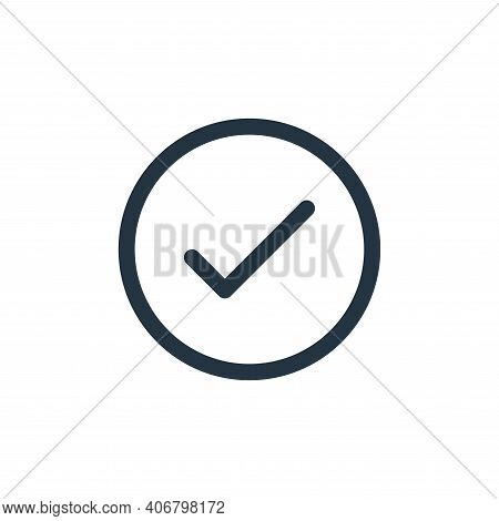 check mark icon isolated on white background from user interface collection. check mark icon thin li