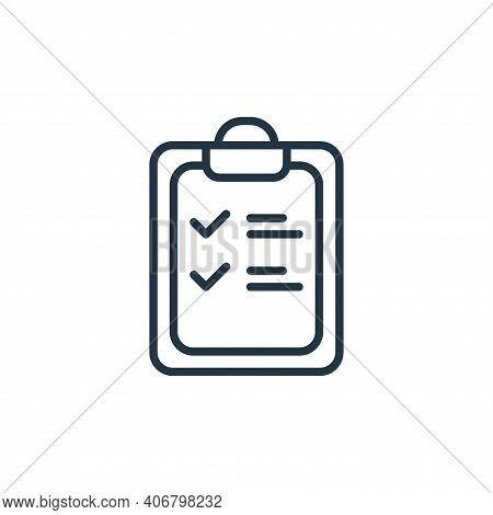 checklist icon isolated on white background from covid collection. checklist icon thin line outline