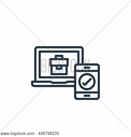 checking icon isolated on white background from work from home collection. checking icon thin line o