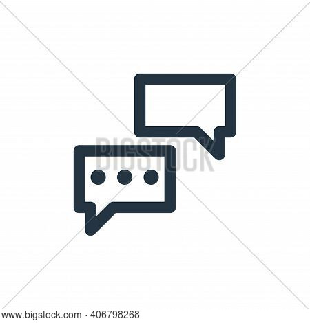 chats icon isolated on white background from marketing business collection. chats icon thin line out