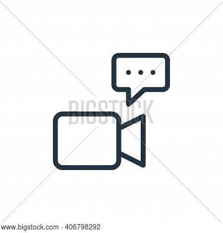 chat icon isolated on white background from work office and meeting collection. chat icon thin line