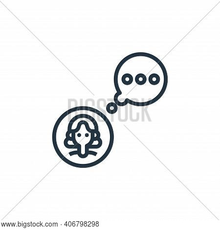 chat icon isolated on white background from user experience collection. chat icon thin line outline