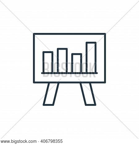 chart icon isolated on white background from leadership collection. chart icon thin line outline lin