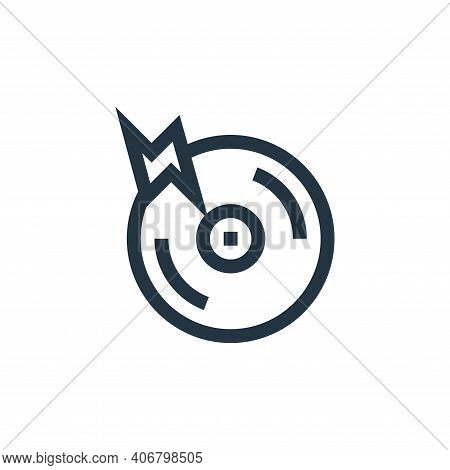 cd icon isolated on white background from rock and roll collection. cd icon thin line outline linear