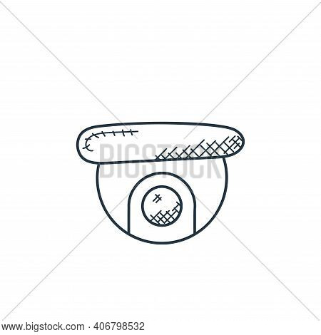 cctv camera icon isolated on white background from technology collection. cctv camera icon thin line