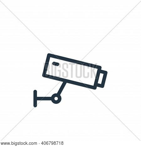 cctv icon isolated on white background from technology collection. cctv icon thin line outline linea