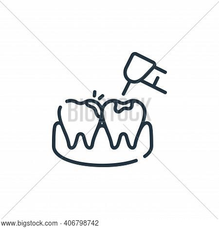 cavities icon isolated on white background from dental care collection. cavities icon thin line outl