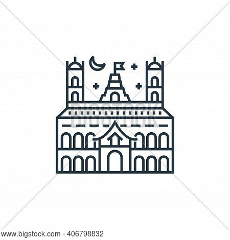castle icon isolated on white background from tourism collection. castle icon thin line outline line