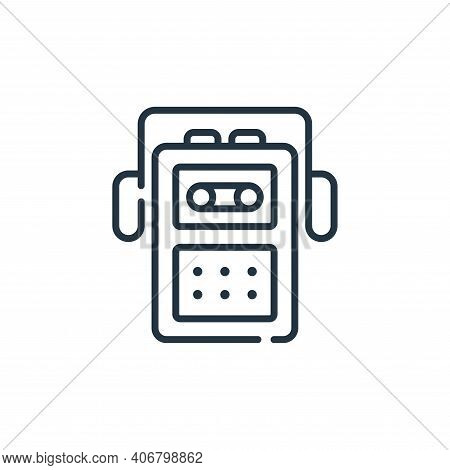 cassette player icon isolated on white background from music collection. cassette player icon thin l