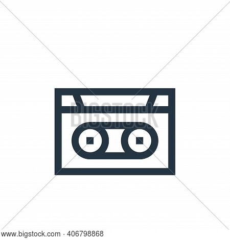 cassette icon isolated on white background from hippies collection. cassette icon thin line outline