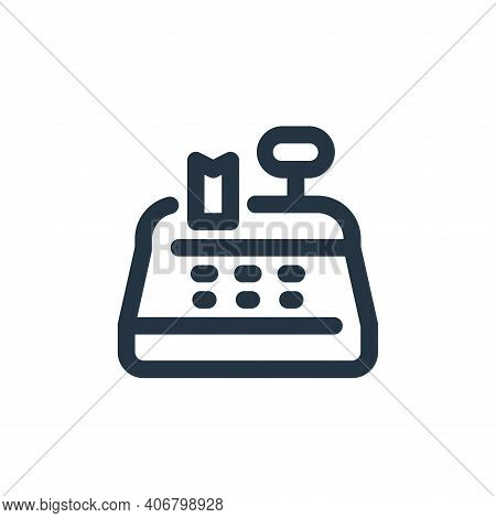 cash register icon isolated on white background from shopping collection. cash register icon thin li