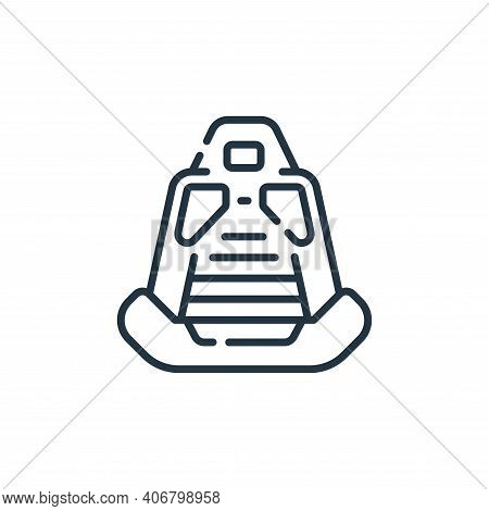 car seat icon isolated on white background from auto racing collection. car seat icon thin line outl