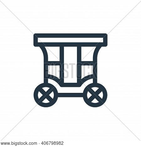 carriage icon isolated on white background from england collection. carriage icon thin line outline