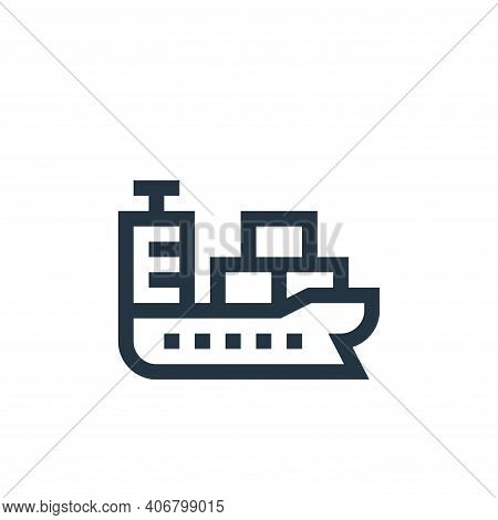 cargo ship icon isolated on white background from industrial process collection. cargo ship icon thi
