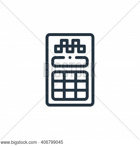 card machine icon isolated on white background from taxi service collection. card machine icon thin