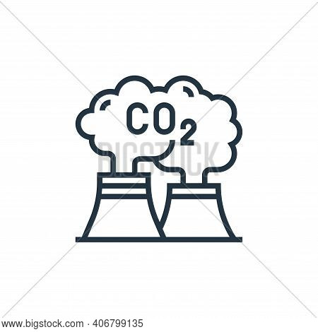 carbon dioxide icon isolated on white background from climate change collection. carbon dioxide icon